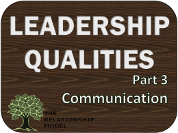 Leadership Qualities Communication RelationshipModel.com Board Governance Management
