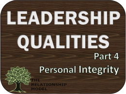 Leadership Qualities Integrity Personal Board Governance Management RelationshipModel.com