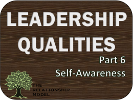 Self Awareness in Leadership Qualities RelationshipModel.com